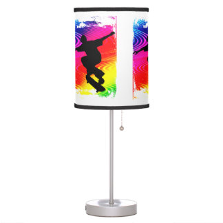 Skateboarding Rainbow Grunge ANY COLOR BACKGROUND Table Lamp