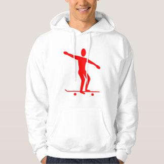 Skateboarding - Red Hoodie
