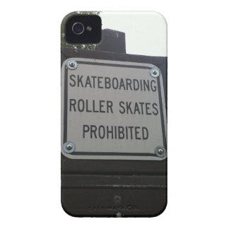 Skateboarding Roller Skates Prohibited iPhone Case