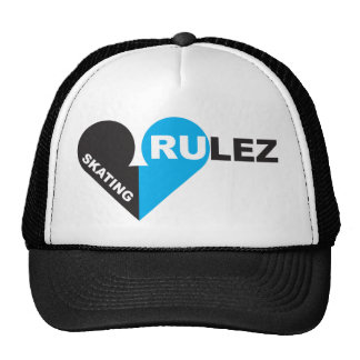 skateboarding rulez hats
