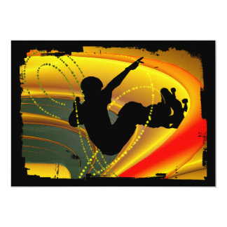 Skateboarding Silhouette in the Bowl Card