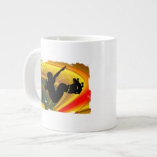 Skateboarding Silhouette in the Bowl Giant Coffee Mug