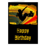 Skateboarding Silhouette in the Bowl Greeting Card