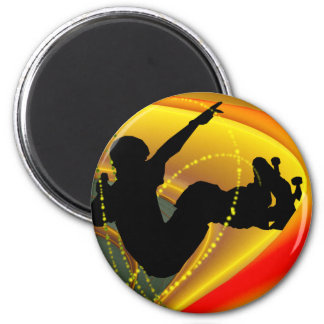 Skateboarding Silhouette in the Bowl Magnet