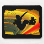Skateboarding Silhouette in the Bowl Mouse Pad