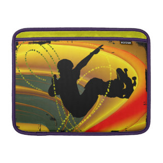 Skateboarding Silhouette in the Bowl Sleeve For MacBook Air