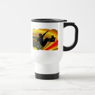 Skateboarding Silhouette in the Bowl Travel Mug