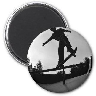 skateboarding silhouette magnet