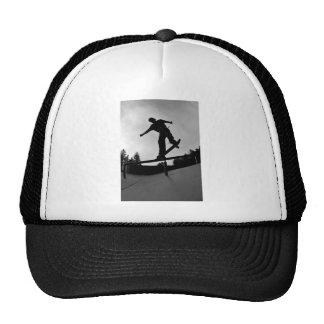 skateboarding silhouette trucker hat