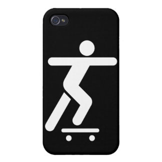 Skateboarding Symbol Case For iPhone 4