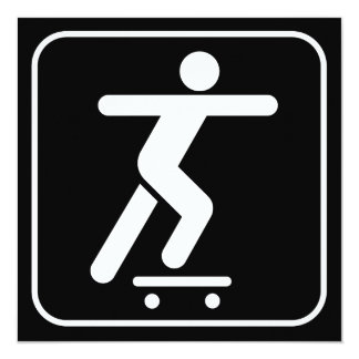 Skateboarding Symbol Invitation