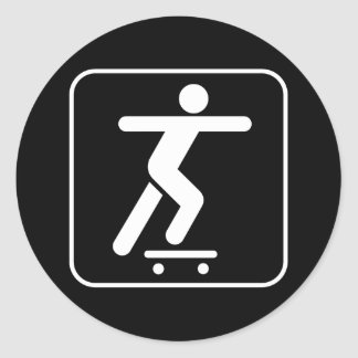 Skateboarding Symbol Sticker