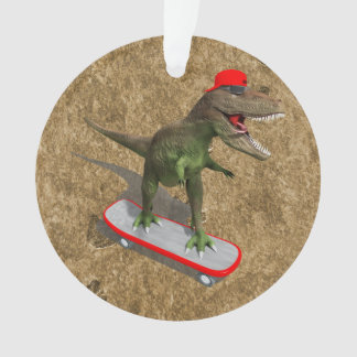 Skateboarding T-Rex Ornament