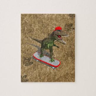 Skateboarding T-Rex Jigsaw Puzzle
