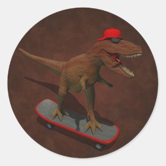 Skateboarding T Rex Sticker