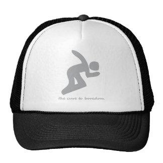 Skateboarding.....the cure to boredom trucker hat