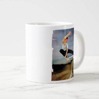 Skateboarding the Wall Giant Coffee Mug