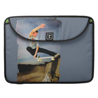 Skateboarding the Wall MacBook Pro Sleeves