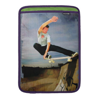 Skateboarding the Wall MacBook Sleeve