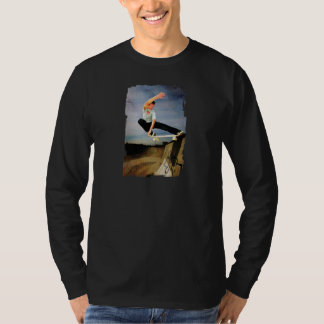 Skateboarding the Wall Tee Shirt