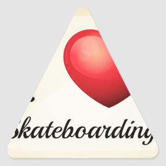 Skateboarding Triangle Sticker