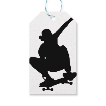 gridly Skateboarding Trick Silhouette Gift Tags