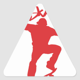 Skateboarding trick triangle sticker