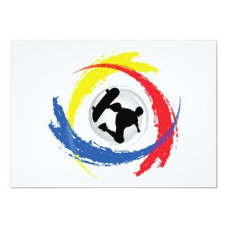 Skateboarding Tricolor Emblem Card