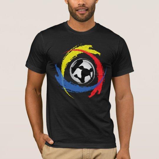 Skateboarding Tricolor Emblem T-Shirt