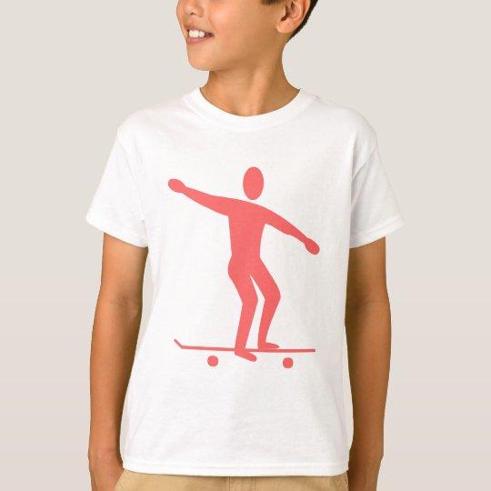Skateboarding - Tropical Pink T-Shirt