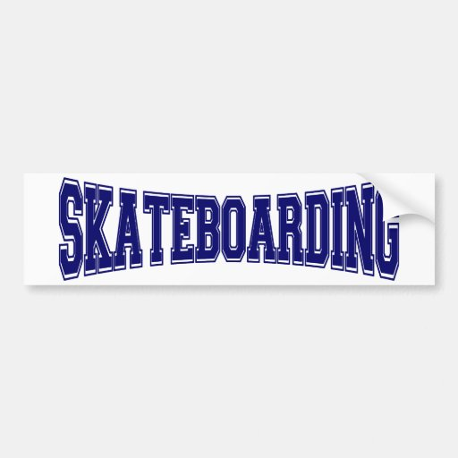 Skateboarding University Style Car Bumper Sticker