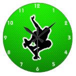Skateboarding verde relojes