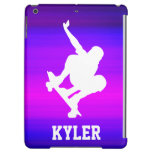 Skateboarding; Vibrant Violet Blue and Magenta iPad Air Cover