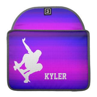 Skateboarding; Vibrant Violet Blue and Magenta Sleeve For MacBooks