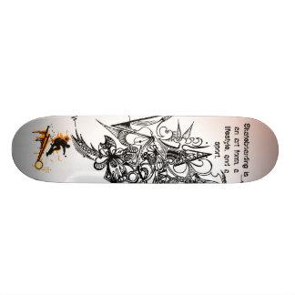Skateboarding's a lifestyle. skateboard deck