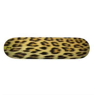 Skateboards custom skins leopard patterns