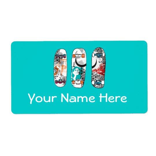 Skateboards Label