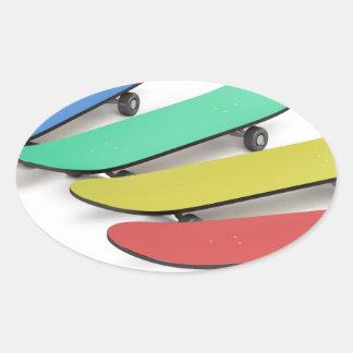 Skateboards Oval Sticker