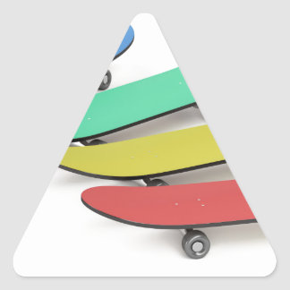 Skateboards Triangle Sticker