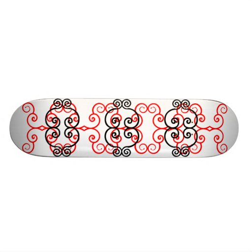 Skateboards with abstract graphics 12