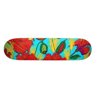 Skatebord poppy flowers meadow skateboard