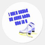 SkateChick Days Round Stickers