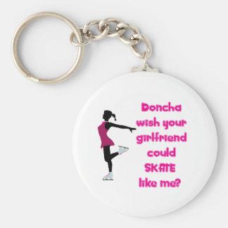 SkateChick Doncha Basic Round Button Keychain