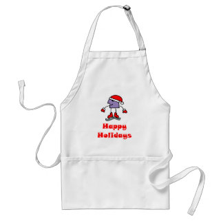 SkateChick Happy Holidays Adult Apron