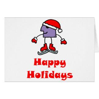 SkateChick Happy Holidays Card