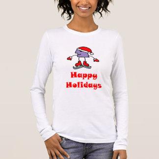 SkateChick Happy Holidays Long Sleeve T-Shirt