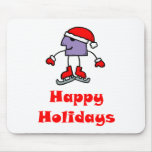 SkateChick Happy Holidays Mouse Pad