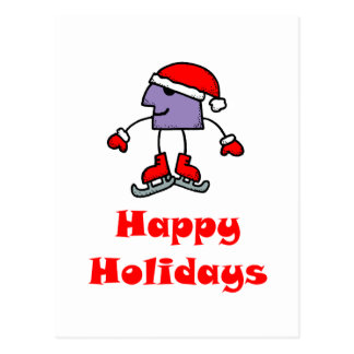 SkateChick Happy Holidays Postcard