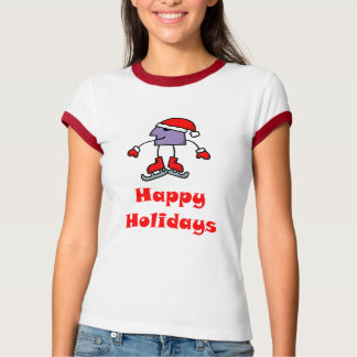 SkateChick Happy Holidays T-Shirt