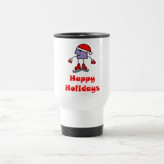 SkateChick Happy Holidays Travel Mug